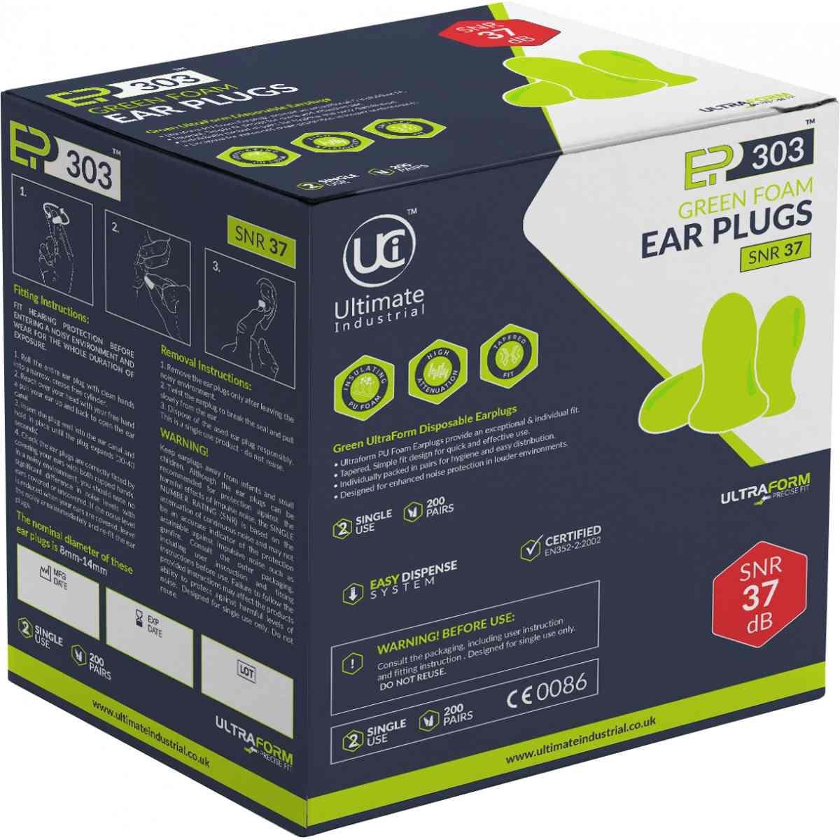 UCI Soft PU Foam Ear Plugs 10 Pairs SNR39