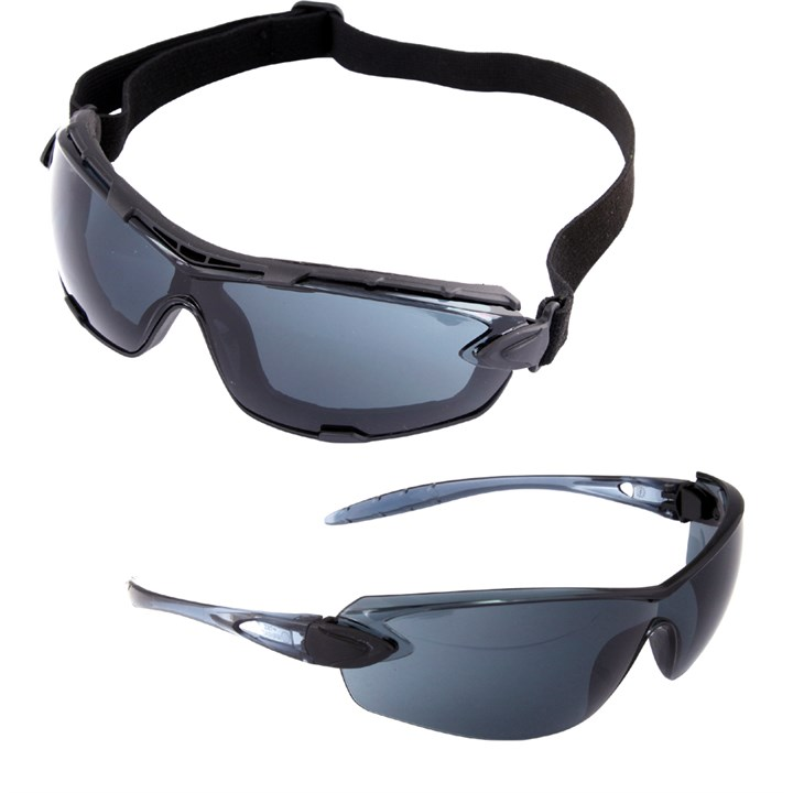 UCI Riga™-SM Stylish Safety Glasses Spectacles  Anti Fog SMOKE Lens