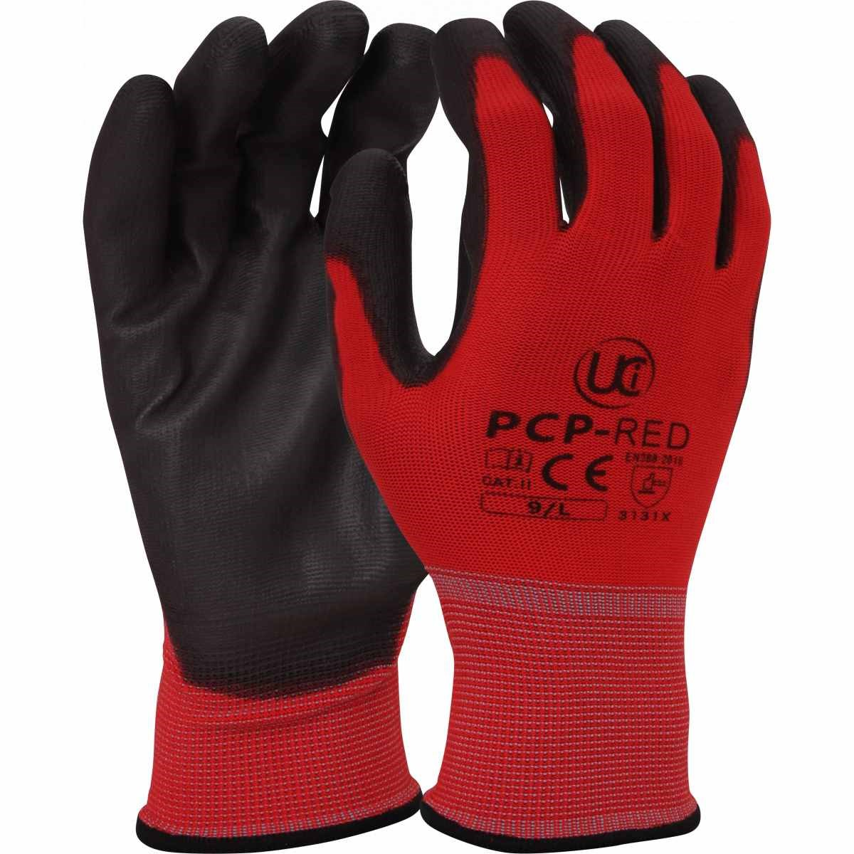 EC9 Gloves PU Coated Gloves Lightweight Black Large Size 9 B-Click Workwear PPE